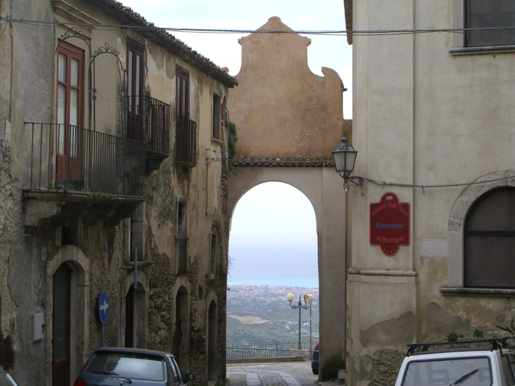 The arch leading you onto the panoramic terrace of the village