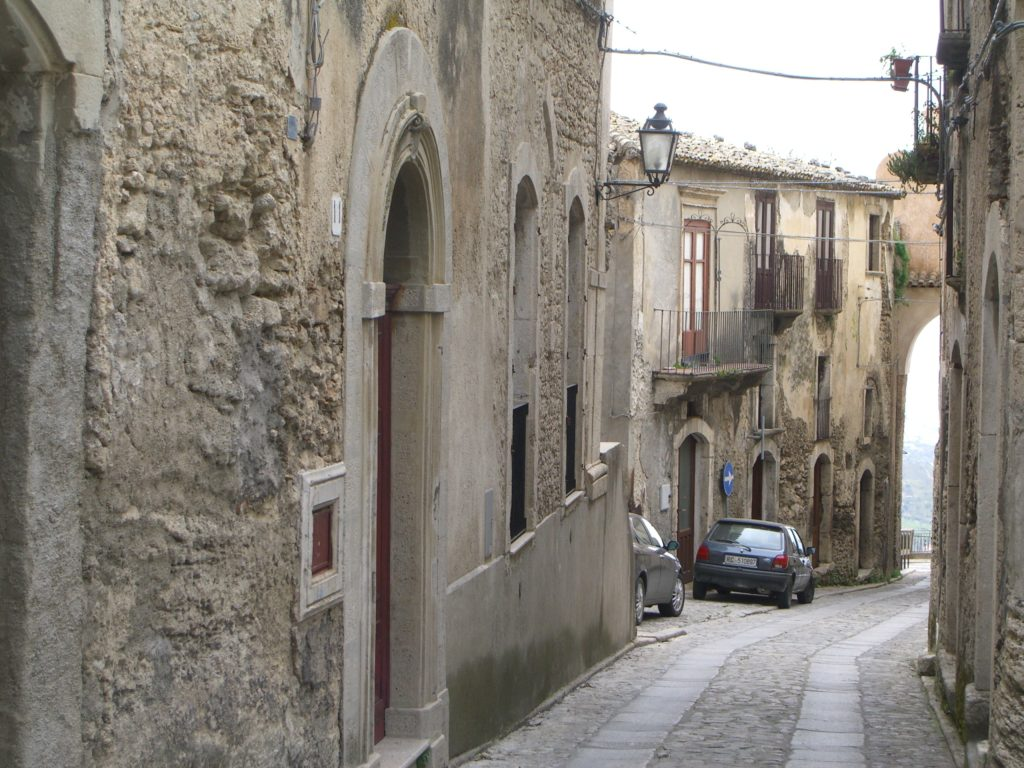 narrow cobbled streets in the village