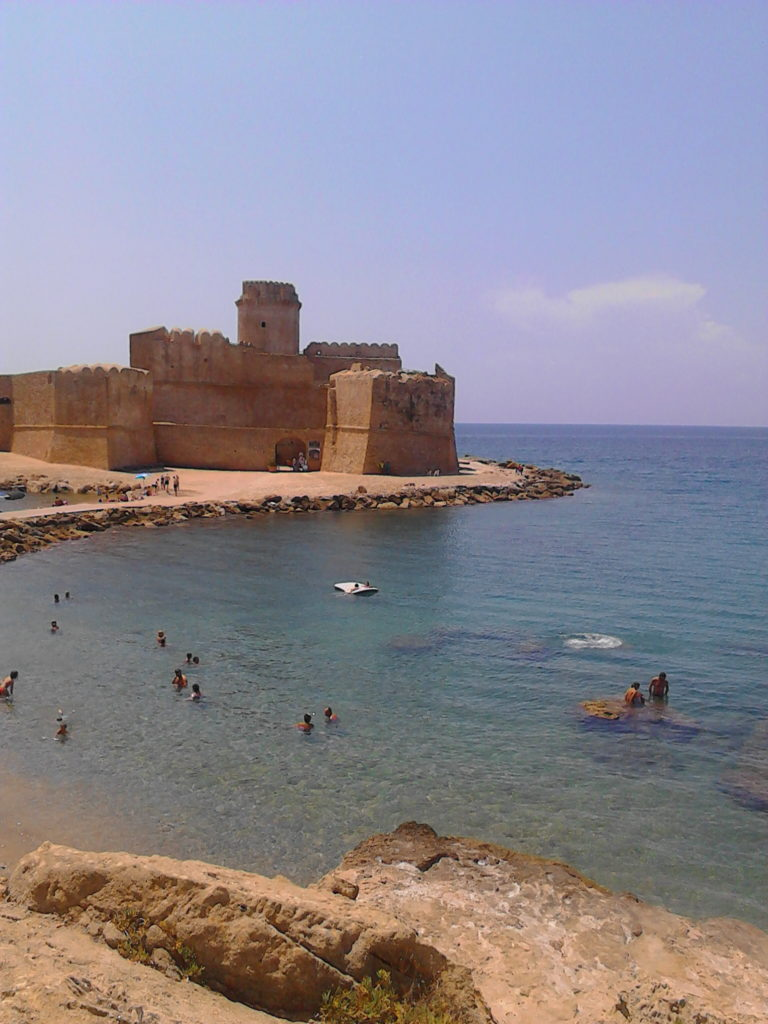 The castle in the middle of the water perfect for snorkelling