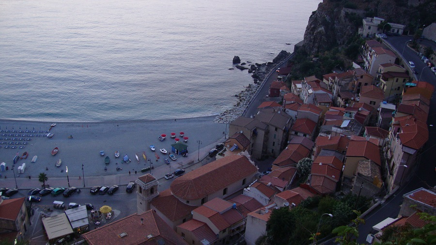 The beach of Scilla from a viewpoint