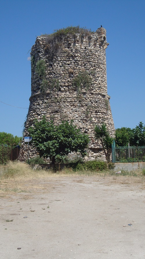 The ruins of the Saracen tower