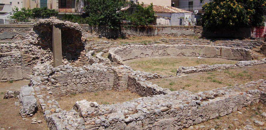 The ruins of the Roman-Greek theatre in Marina di Gioiosa