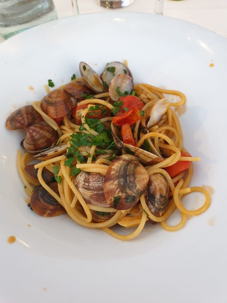 Spaghetti with clams is typical Calabrian cuisine