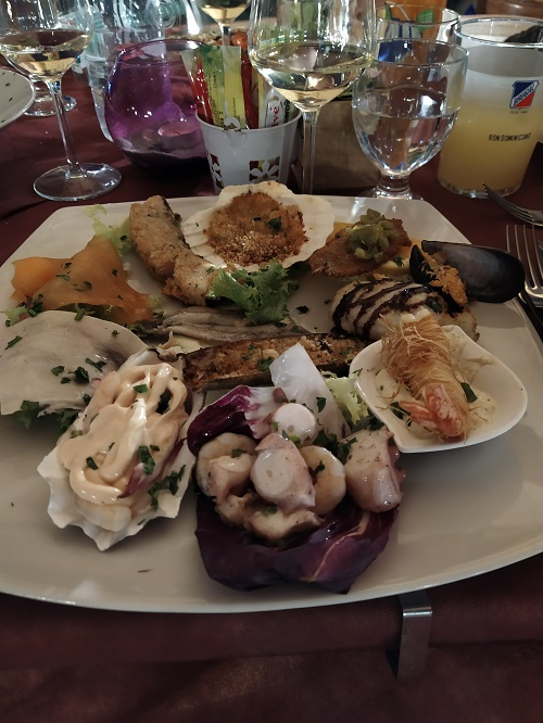 Assorted seafood appetisers