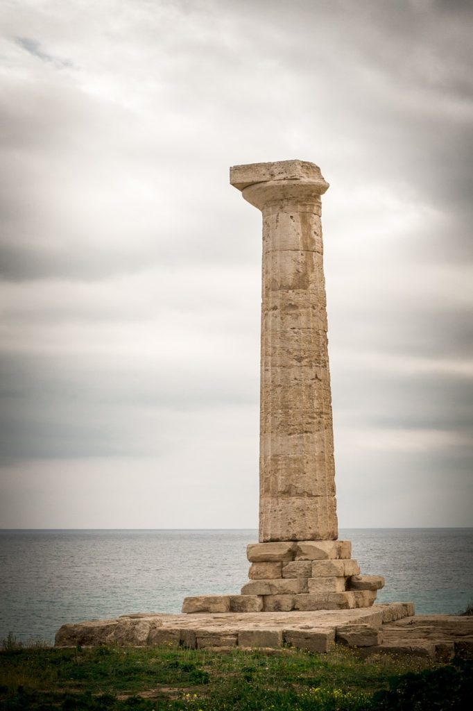 A Greek column in Calabria