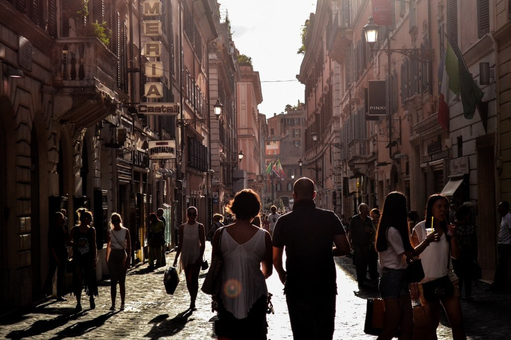 A famous street in Naples