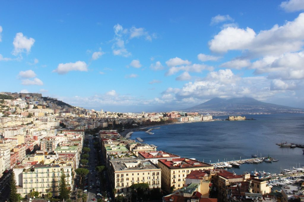 A wonderful view of the city of Naples