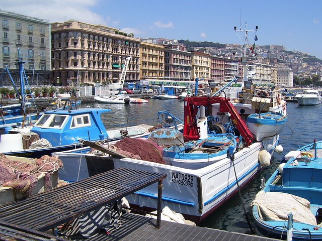 The seafront of Naples