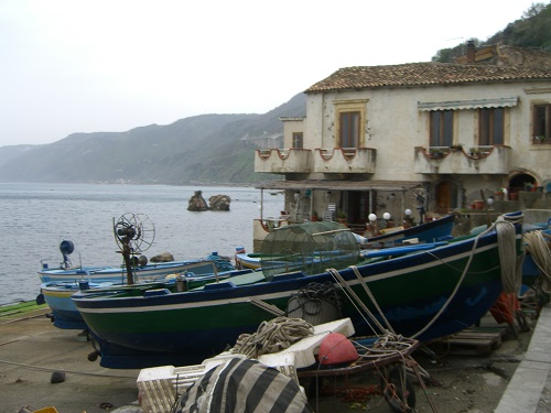A mild climate in winter time in Scilla