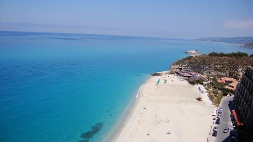 A white sandy beach in Tropea
