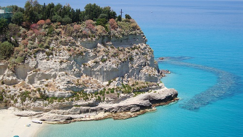 Tropea vista of the sea