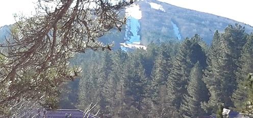 The Sila ski slopes in the winter