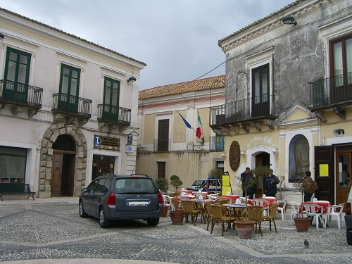 The main square in Gerace