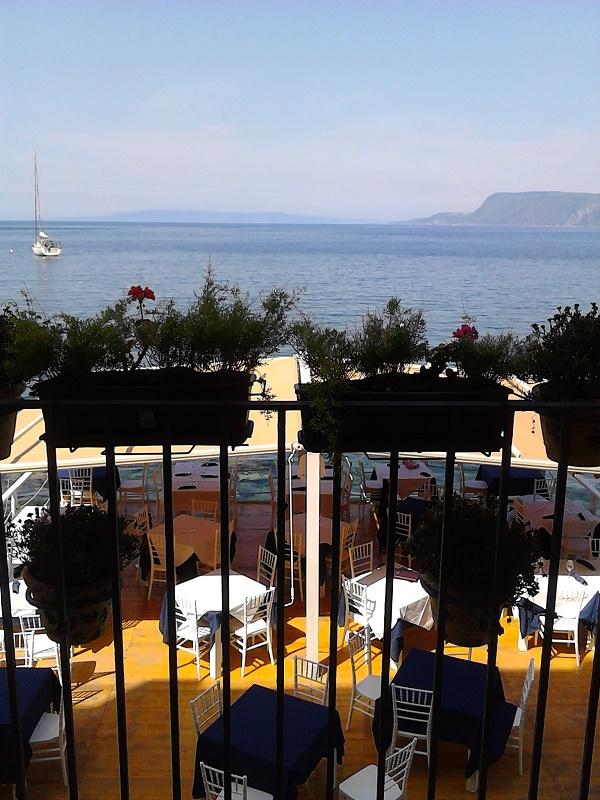 Breathtaking sea views from a hotel in Scilla