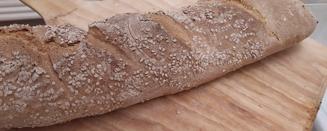 Bread made at home during lockdown
