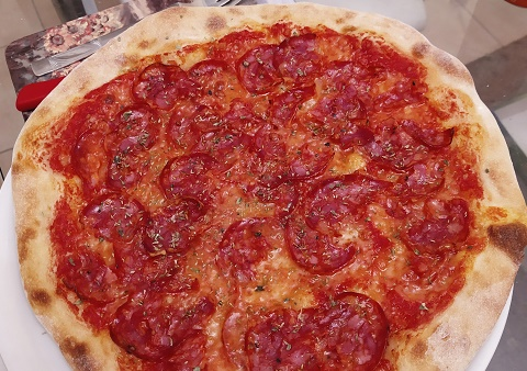 Pizza made at home during lockdown