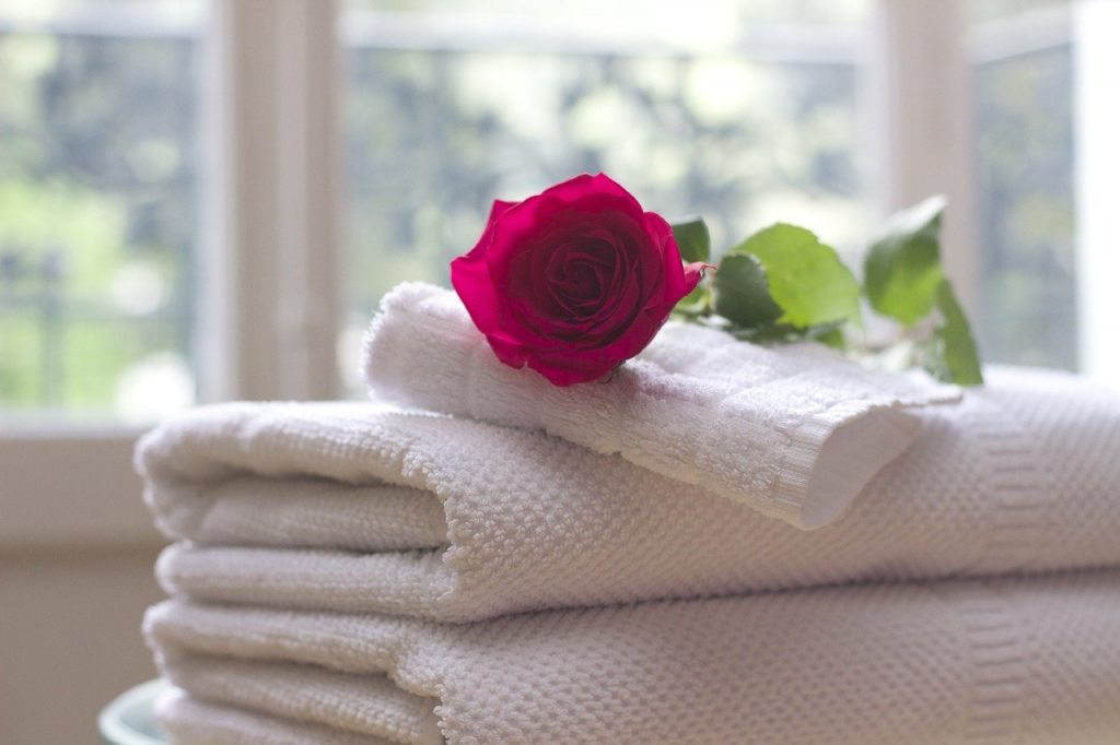 guest towels for villa accommodation.