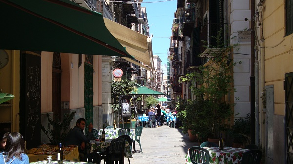 The historic centre in Palermo