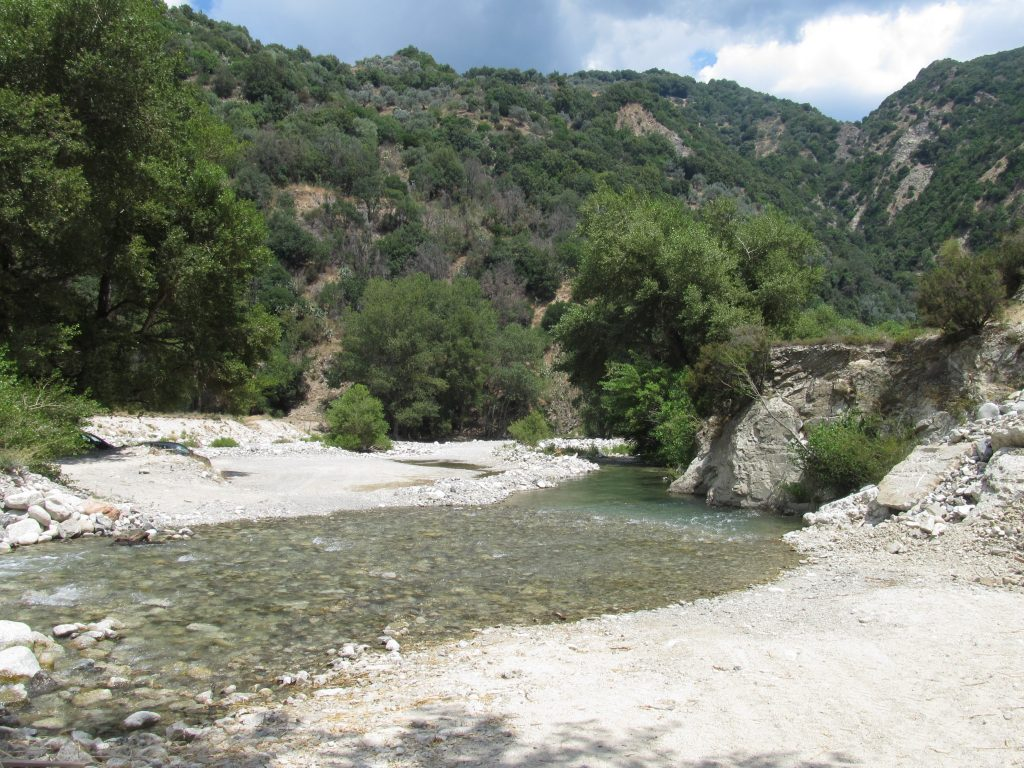 Nature is everywhere in Calabria with rivers and mountains.