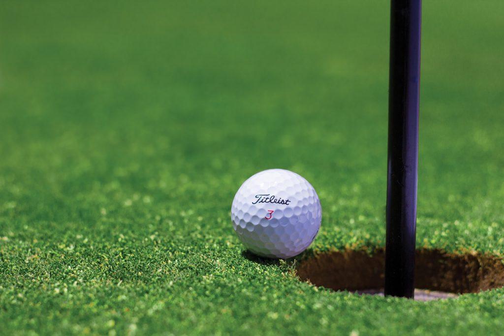 Lush green golf courses