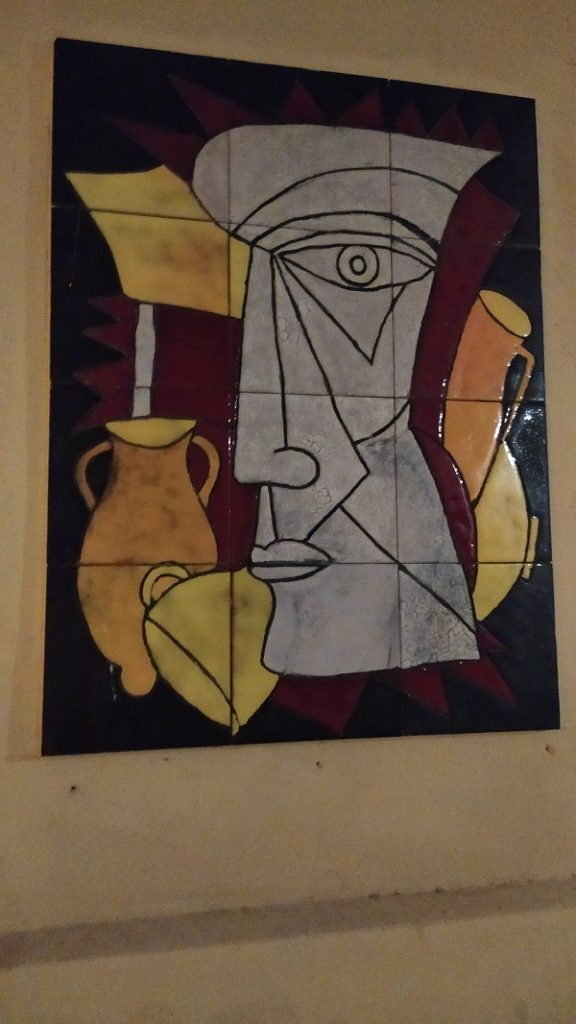 A ceramic panel in Mazara del Vallo