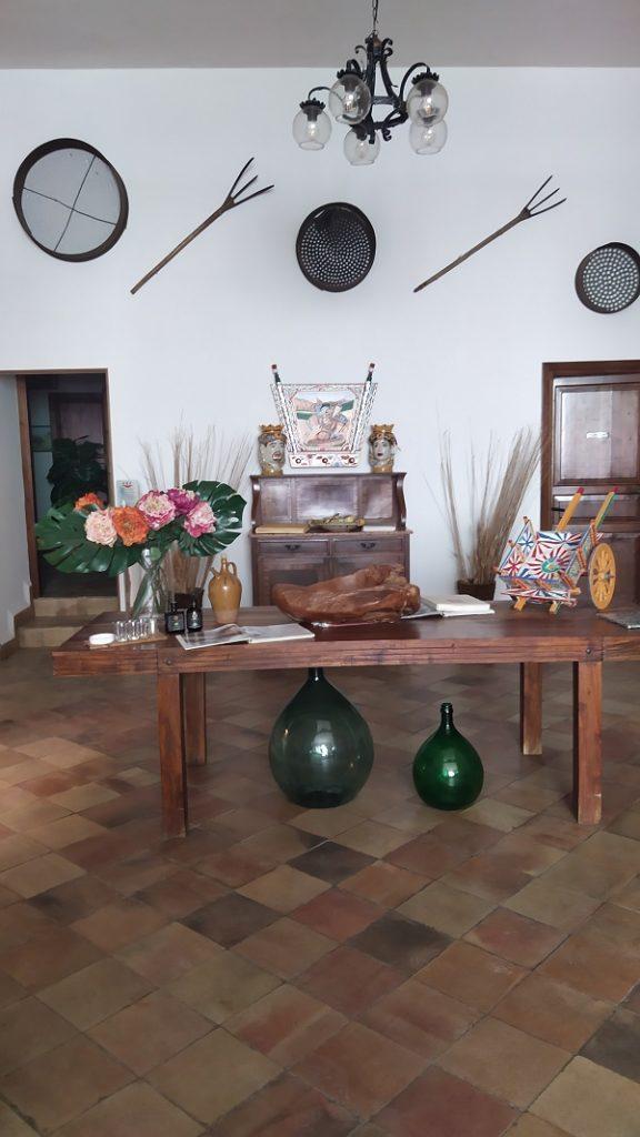 The farmhouse reception area