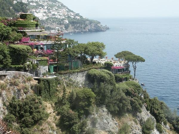 The San Pietro hotel in Positano