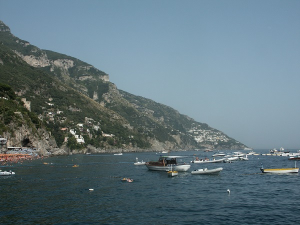 The boat trip leaves from Positano.
