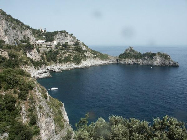 Conca dei Marini stop on the boat trip