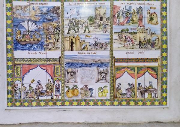 The history of Mazara del Vallo in ceramic tiles