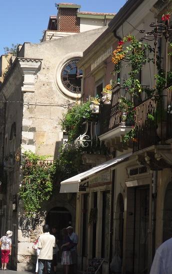 Floral balconies in Taormina