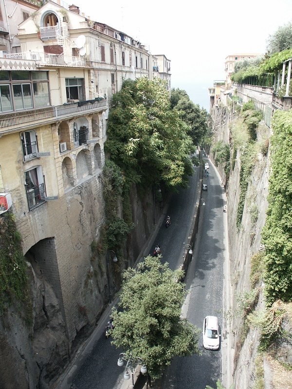 The winding road taking you down to the port of Sorrento