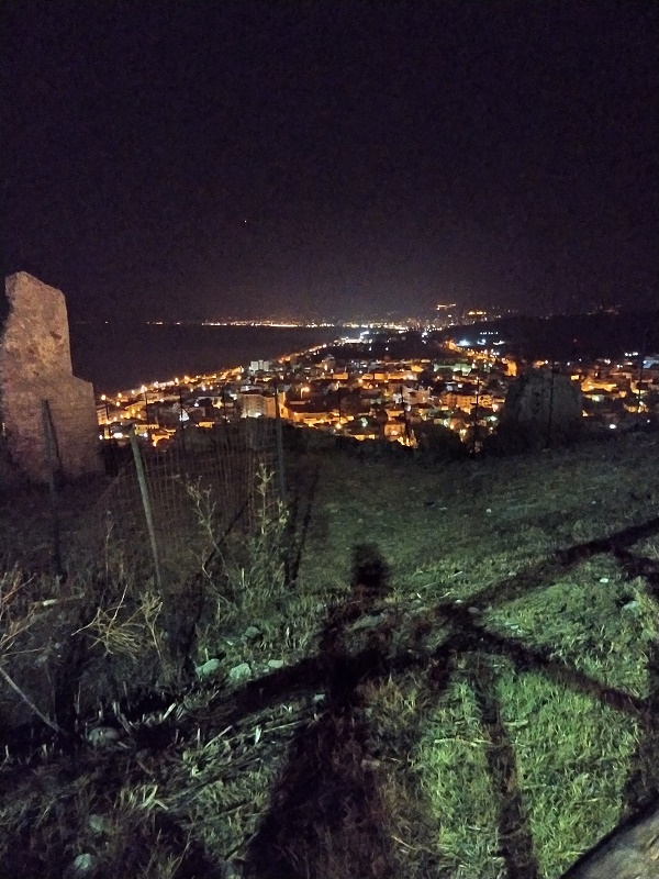 The view of Roccella Ionica at night