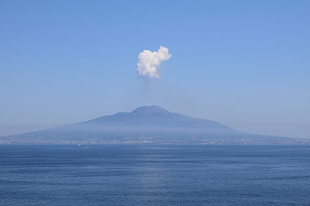 Mount Vesuvius from the view point