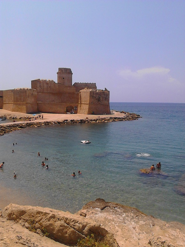 The view of the castle in Capo Rizzuto