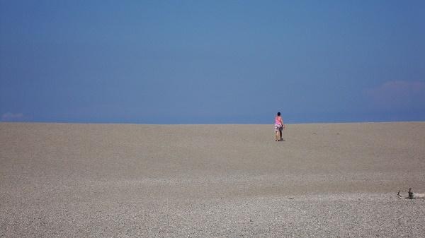 The sandy lagoon