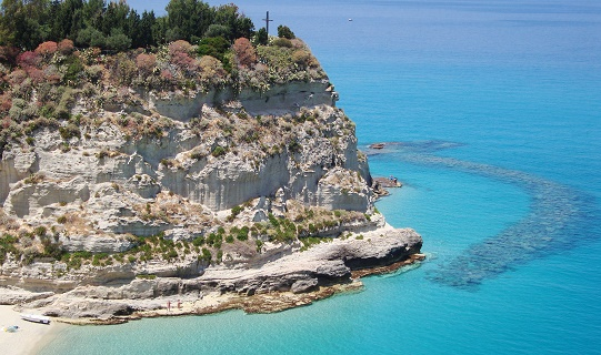 The famous rock in the jewel of Tropea