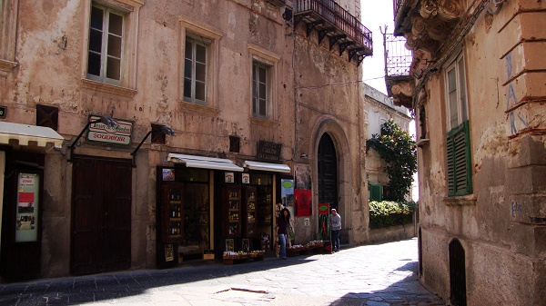 characteristic streets in the jewel of Tropea