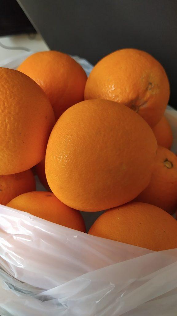 A bag of oranges