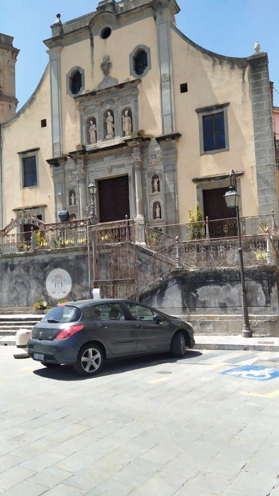 The church in San Piero Patti