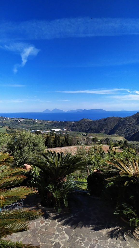Views of the Aeolian islands from the rural retreat