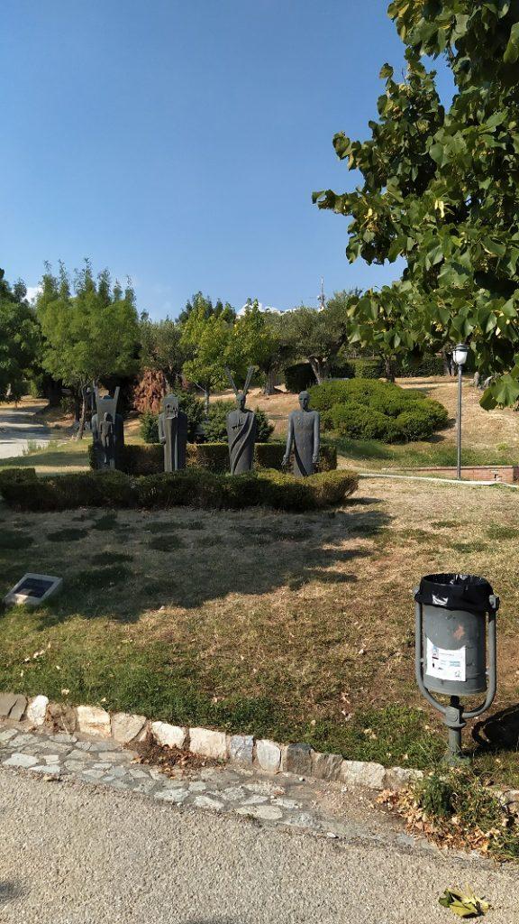 Unusual sculptures in the park in Catanzaro